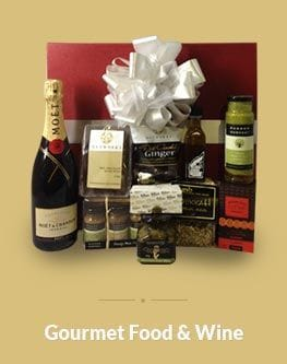 Gourmet food and wine gift boxes