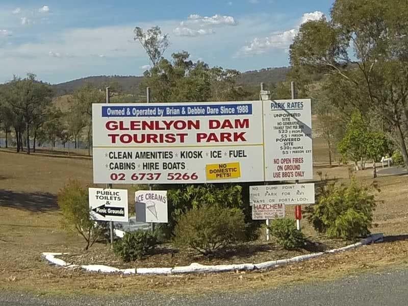 Glenlyon Dam Tourist Park, Glenlyon Lake