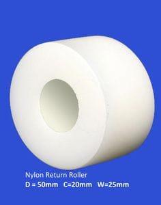Nylon Return Roller 25mm