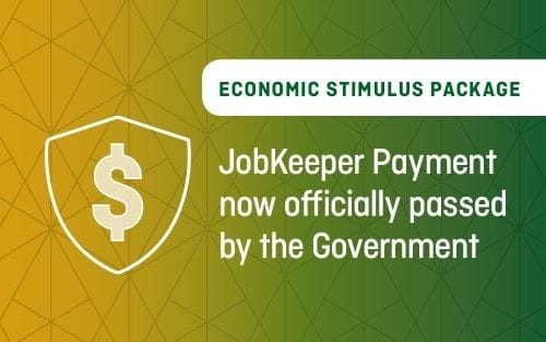 JobKeeper Payment now officially passed by the Government