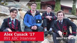 Alex Cusack '17 ABC 891 Interview