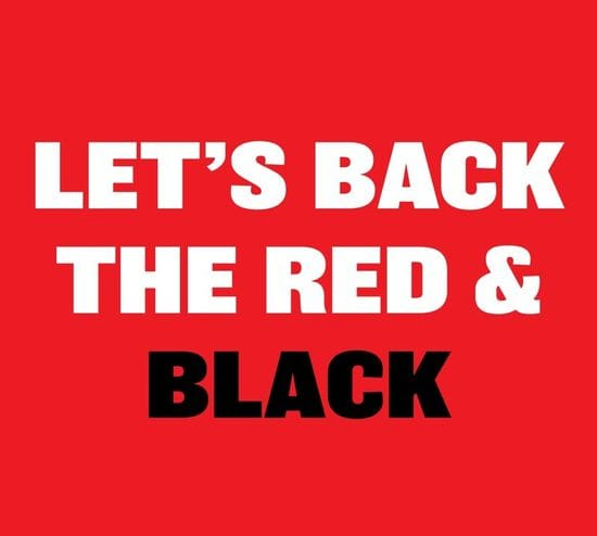 Let's Back the Red & Black