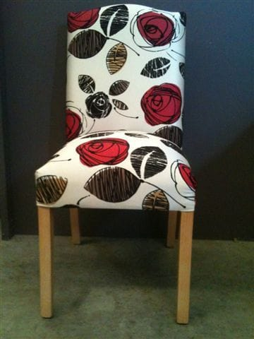 Red Rose Dining Chair