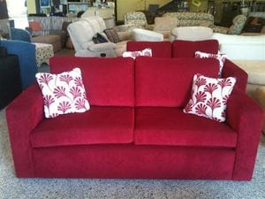 Essex Bay Red Sofa Bed