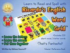 Ricardo's English Word Grid by Melissa Savonof