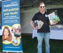 Publicious Director and Author Andy McDermott at the Somerset Festival of Literature