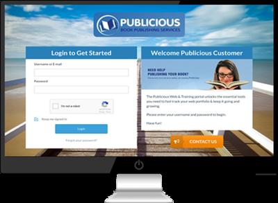 Publicious log-in portal