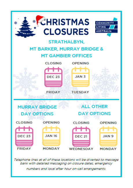 Christmas Closures