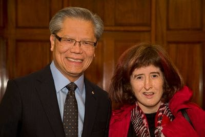 His Excellency the Honourable Hieu Van Le AC, Governor of South Australia with Melanie Smith