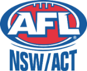 AFL NSW/ACT | South West Sydney Academy of Sport | Blue and red Logo