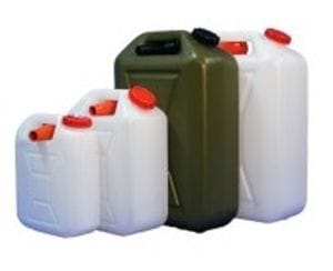 Jerry Can Style Water Containers