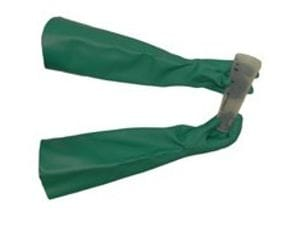 Nitrile heavy duty chemical gloves long