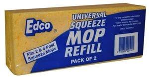 Edco Universal Sponge Mop Refill 2Pk