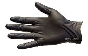 Black Nitrile Disposable Gloves Size S-XL