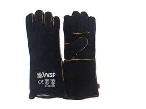 A Grade cow split leather and Kevlar Welders gloves - black/gold