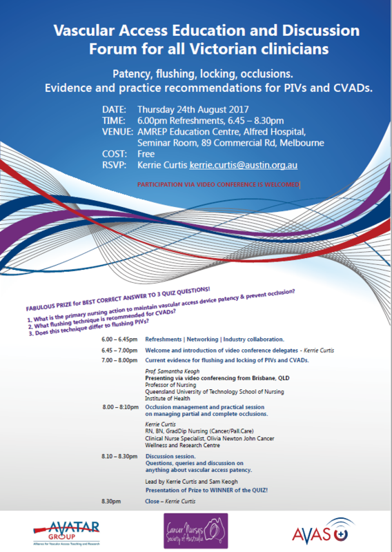 Vascular Access Education and Discussion Forum in Victoria