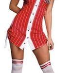 Baseball girl red