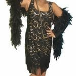 Flapper Black and Gold