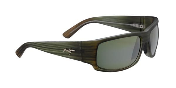 Maui Jim World Cup - Matte Green Stripe High Transmission