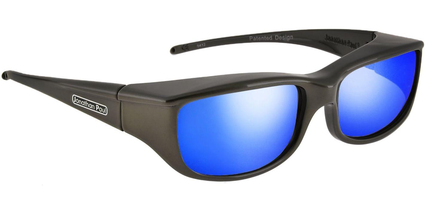 Jonathan Paul Fitovers Polarised 'Euroka' Gunmetal Grey Blue Mirror Sunglasses