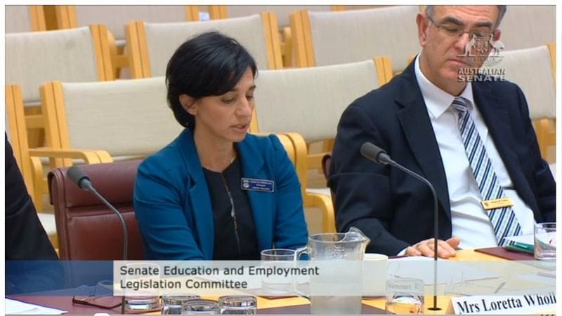 Transcript of CaSPA presentation to Senate Inquiry on School Funding