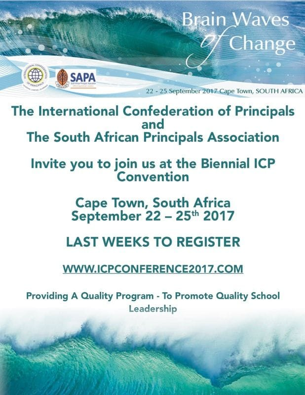 ICP Conference in Cape Town Sept 22-25 - Registrations Closing Soon