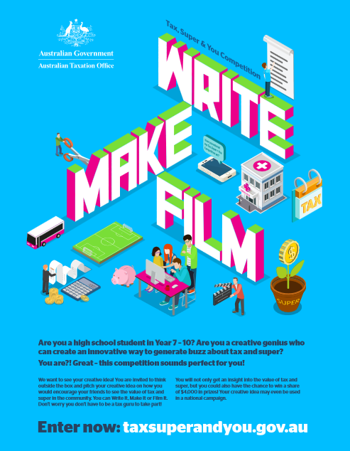 Write It, Make It or Film It for the ATO's Tax, Super and You Competition