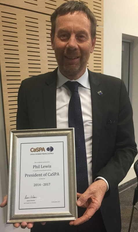 Phil Lewis farewelled as President of CaSPA