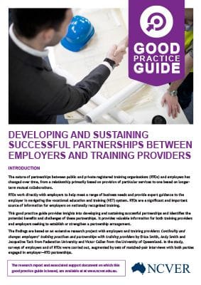 Successful partnerships between employers and training providers: good practice guide