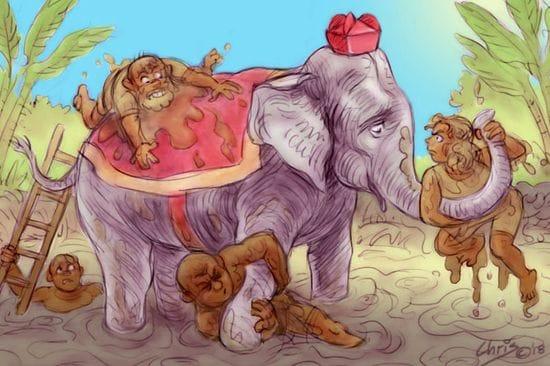 Mud-wrestling the Catholic elephant