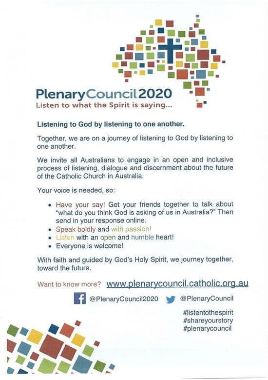 An Invitation to contribute to Plenary Council 2020