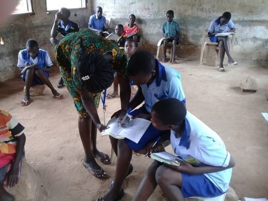 Our sponsored Sudanese Teacher Graduate is now working in a school