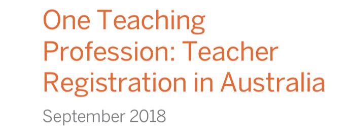 AITSL Review Report - Important Recommendations on Teacher Registration