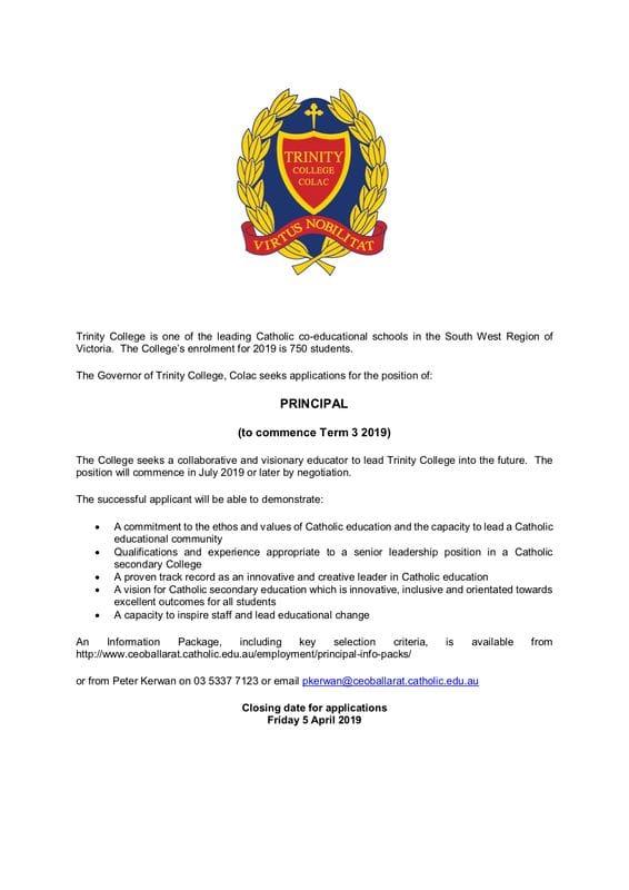 Principal Vacancy - Colac, Victoria