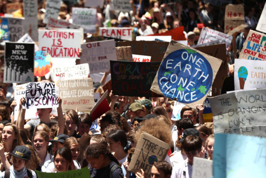 Students skip school to fight climate change