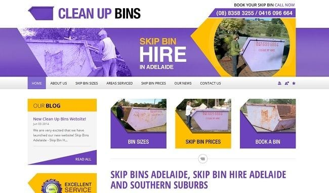 New Bins Adelaide Website!