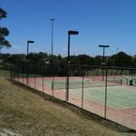 Tennis court lighting instalation.