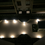 Apartment complex garden lighting project