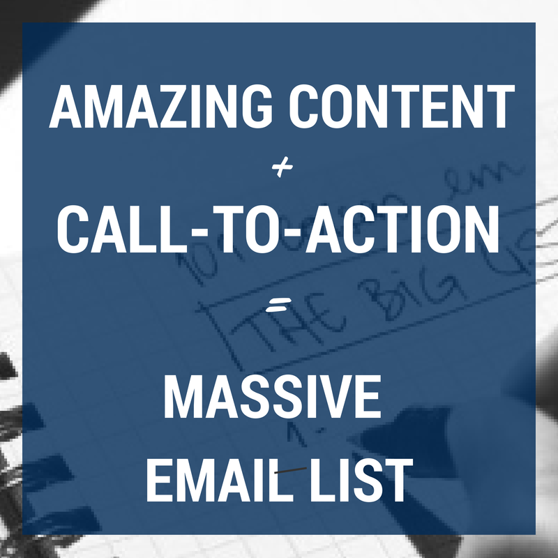 The Simple Formula For Growing a Massive Email List