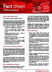 Fact Sheet Child Sexual Abuse