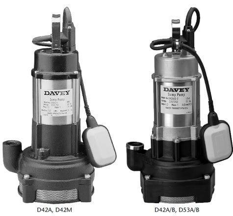 Sump Pumps - D42A, D42M, D42A/B, D53A/B