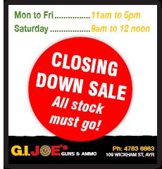 GI Joes Closing down trading