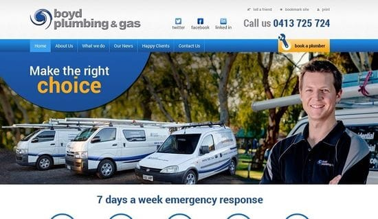 New Website Launched for Boyd Plumbing and Gas