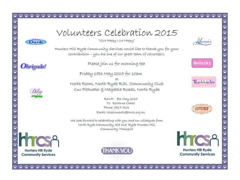 Volunteers Celebration 2015