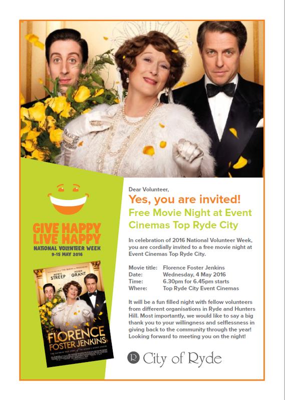 Free Volunteer Movie Night
