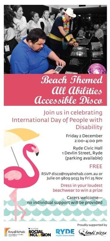 Beach Themed All Abilities Accessible Disco