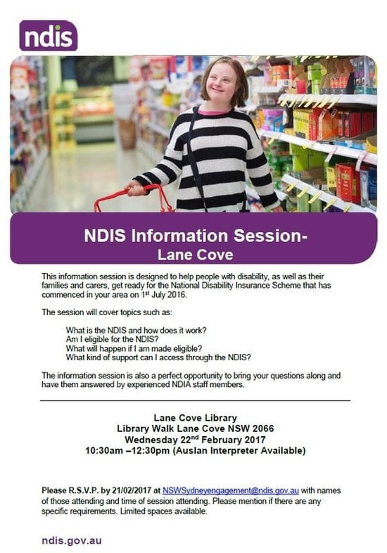 NDIS Information Session 2017