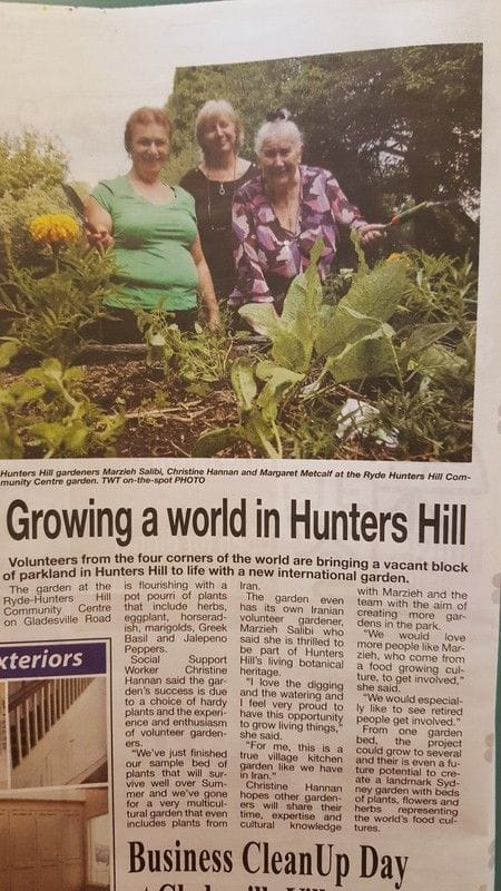 Our Community Garden featured in the media