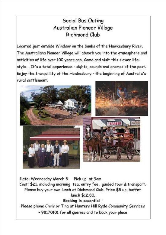 Visit the Australian Pioneer Village