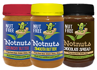 3 Jar Mixed Box Notnuts Smooth, Crunchy and Choc